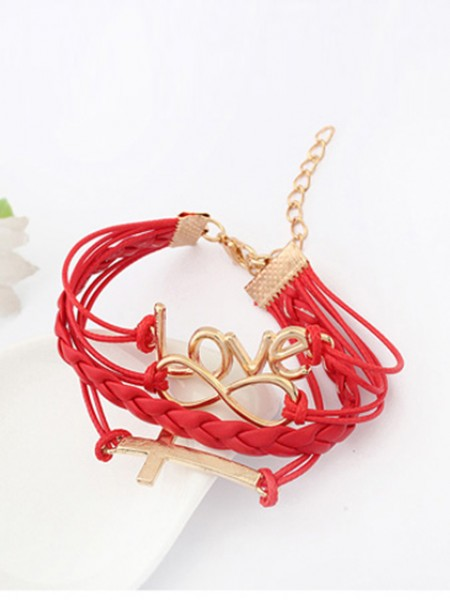 Korean version Romantic Password love Cross Brandudsalg Armbånd