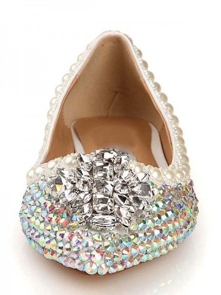 Patent Læder Diamant Pointed Toe Flats